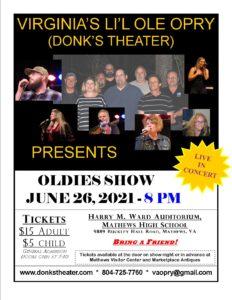 Oldies Show June 26, 2021